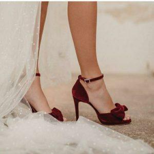 zapatos de novia de color muy original